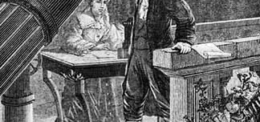 William Herschel with Sister Caroline Lucretia