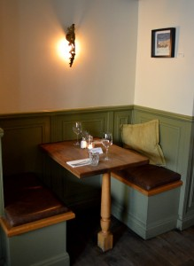 Marlborough Tavern Alcove table