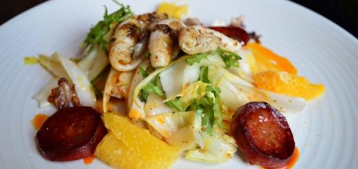 Squid & Chorizo Salad