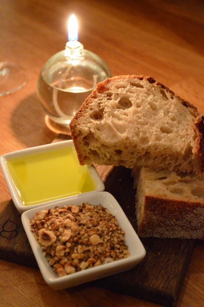 Bread, oil and dukkah