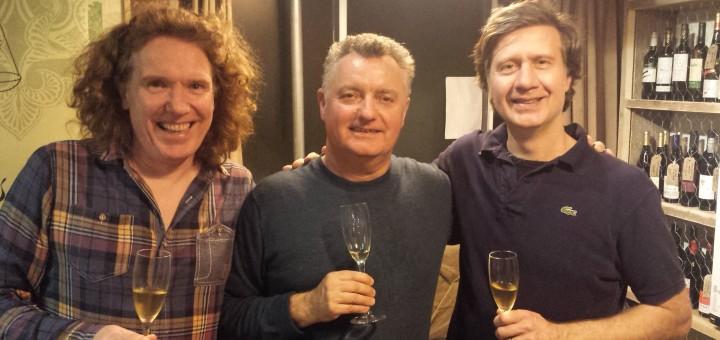 Corkage - Ed Adams Wine Tasting Event - L-R Marty Grant, Ed Adams, Richard Knighting